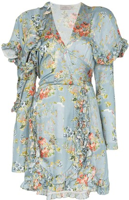 Preen by Thornton Bregazzi Rylee floral print ruffle mini dress