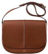 A.P.C. Women's Brown Leather Shoulder Bag.