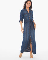 Chico's Utility Denim Maxi Dress