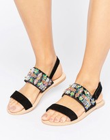 Boohoo Embroidered Two Part Sandal