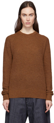 Acne Studios Brown Alpaca and Wool Crewneck Sweater