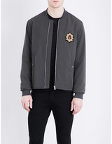 The Kooples Badge-detailed Bomber Jacket