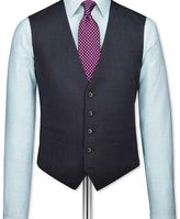 Charles Tyrwhitt Navy end-on-end business suit waistcoat