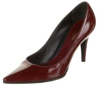 Sergio Rossi Patent Leather Pumps Red
