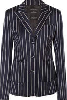 Rokh - Striped Wool-blend Blazer - Navy