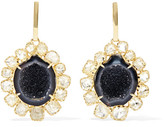 Kimberly McDonald - 18-karat Gold, Geode And Diamond Earrings