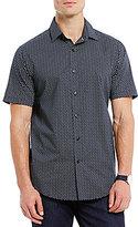 Hart Schaffner Marx Printed Short-Sleeve Woven Shirt