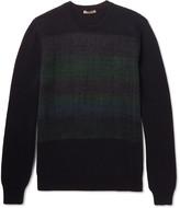 Bottega Veneta - Jacquard-panelled Cashmere Sweater
