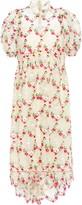 Simone Rocha Ruffled Floral-embroidered Tulle Midi Dress