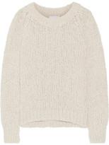 Co Open-knit Cotton-blend Sweater - Ecru