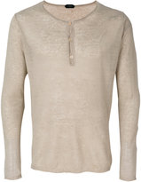 Zanone classic fitted top - men - Linen/Flax - 48