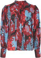 Biba Printed pleat detail blouse