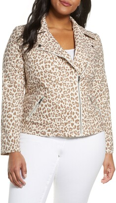 Adyson Parker Animal Print Moto Jacket