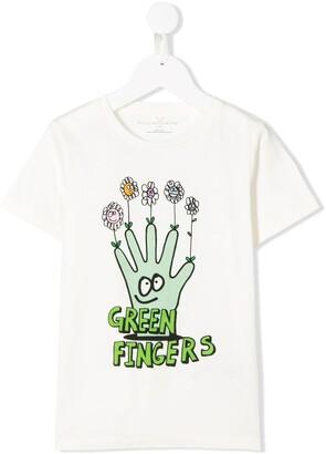 Stella McCartney green fingers T-shirt