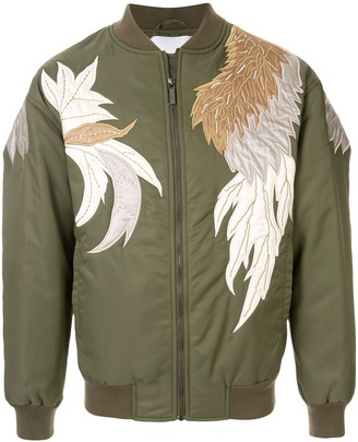 Ports V floral embroidered bomber jacket
