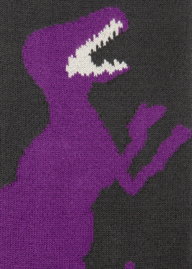 Thumbnail for your product : Paul Smith Men's Dark Grey And Violet 'Dino' Socks