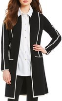 Calvin Klein Petites Knit Topper Jacket With Contrast Pipe Trim