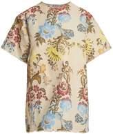 Marques Almeida MARQUES'ALMEIDA Floral-jacquard T-shirt dress