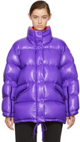 Moncler Purple Oversized Down Callis Jacket