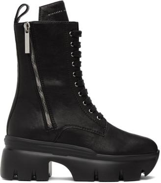 Giuseppe Zanotti Black Apocalypse Lace-Up Boots