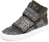Maison Margiela Velcro Glitter High Top Sneakers