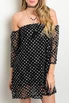 Adore Clothes & More Black Off Shoulder Dress