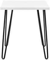 Design Studio A Maxwell Retro End Table, White