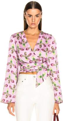 PatBO Kimono Sleeve Wrap Top in Bright Lilac | FWRD