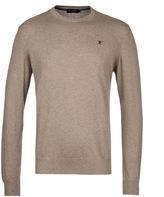 Hackett Light Brown Pima Cotton Crew Neck Sweater