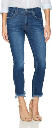 James Jeans Women's Straight Leg Jean with Hi Lo Hem in Victory 27