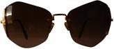 Miu Miu Gold Metal Sunglasses