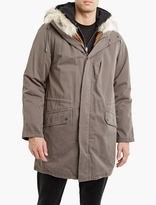 Yves Salomon Dark Grey Rabbit-fur Lined Parka