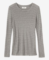 Toast Block Stripe Wool/Tencel Tee