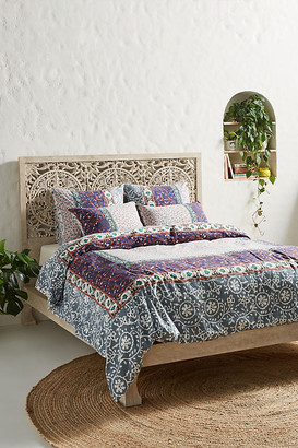 Anthropologie Sienna Duvet Cover By in Blue Size Q top/bed