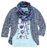 Self Esteem Tee, Shrug and Scarf - Girls 7-16 and Plus