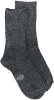 Eleventy ribbed knit socks - women - Spandex/Elastane/Viscose/Cashmere/other fibers - One Size