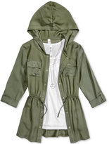 Beautees 3-Pc. Hooded Jacket, Tank Top and Necklace Set, Big Girls (7-16)