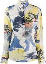 Ermanno Scervino tropical print long sleeve shirt