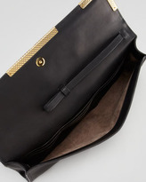 Bottega Veneta Medium Waxy Clutch Bag, Black