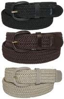 CTM® Men's Elastic Braided Stretch Belt (Pack of 3 Colors), 3XL