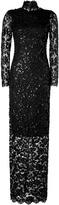 Collette Dinnigan Sequined V Back Gown in Black