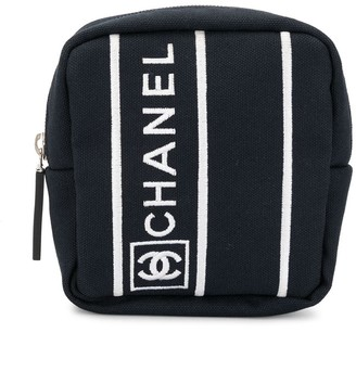 Chanel Pre Owned Sport Line logo pouch