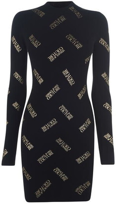 Versace Jeans Couture Logo High Neck Dress