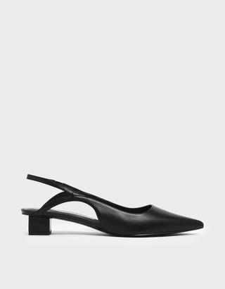 Charles & Keith Low Block Heel Slingback Court Shoes