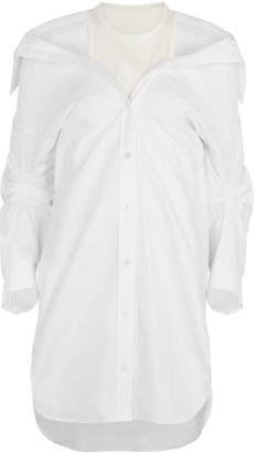 alexanderwang.t White off-the-shoulder layered shirt dress