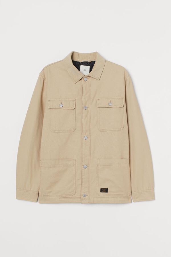 H&M Corduroy Collared Jacket - Beige