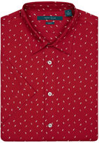 Perry Ellis Short Sleeve Paisley Print Shirt