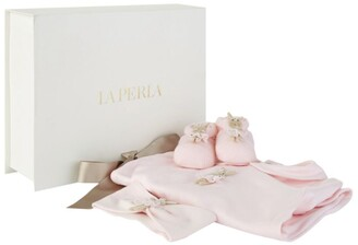 La Perla Kids Bunny Ballerina All-In-One, Slippers And Headband Set