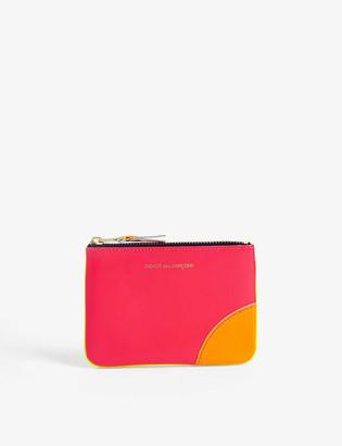 Comme des Garcons Super fluorescent leather coin wallet