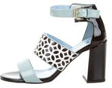 Studio Pollini Laser Cut Patent Leather Sandals